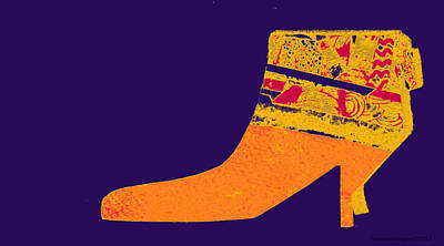 Painting - Pop Art Boot by Forartsake Studio