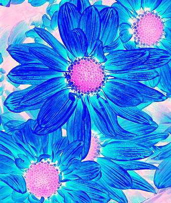 Digital Art - Pop Art Daisies 10 by Amy Vangsgard