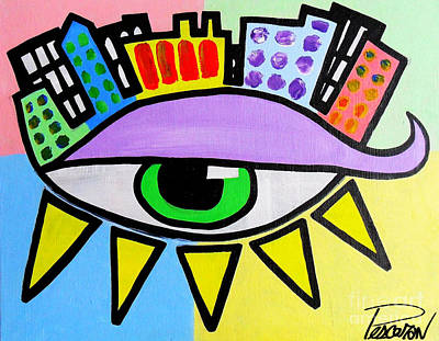 Pop City Eye Art Print