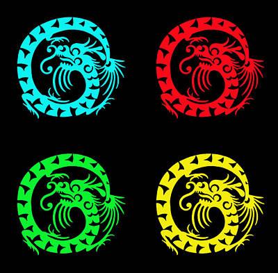 Global Design Shibori Inspired - Pop Dragon by One Rude Dawg Orcutt