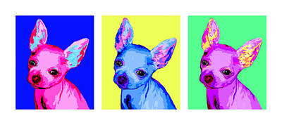 Teacup Chihuahua Painting - Pop Teacups by Laura Sotka
