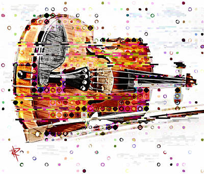 Mixed Media - Pop Violin by Russell Pierce