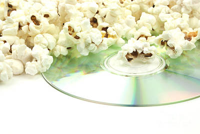 Disc Photograph - Popcorn And Movie  by Blink Images
