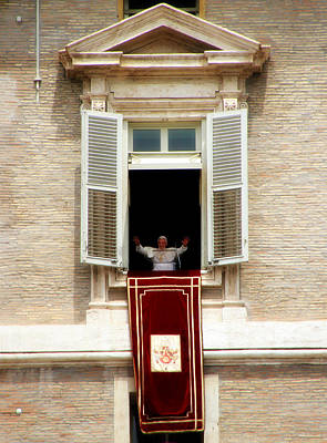 Angelus Photograph - Pope Benedict Xvi A by Andrew Fare