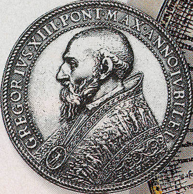 Pope Gregory Xiii Print by Photo Researchers