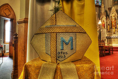 Photograph - Pope John Paul Mitre Religious Relic  II     -       Headgear Use By John Paul II by Lee Dos Santos