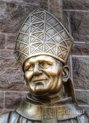Photograph - Pope John Paul The Great    Giovanni Paolo II   -    Bronze Statue by Lee Dos Santos