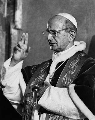 Ev-in Photograph - Pope Paul Vi, Circa Early 1970s by Everett