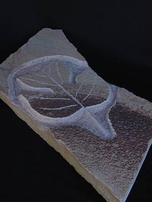 Sculpture - Poplar Leaf by Todd Malenke