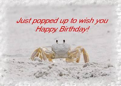 Popped In To Wish You Happy Birthday Art Print by Judy Hall-Folde