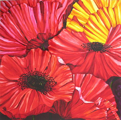 Poppies Fantasy Art Print by Gabriela Stavar