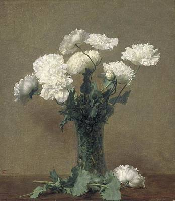 White Flowers Painting - Poppies by Ignace Henri Jean Fantin-Latour