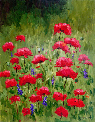 Painting - Poppies In A Meadow IIi by Glenda Cason