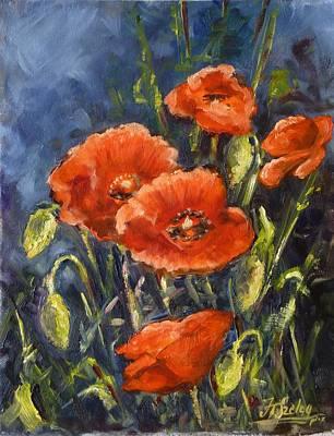Flower Painting - Poppies by Irek Szelag