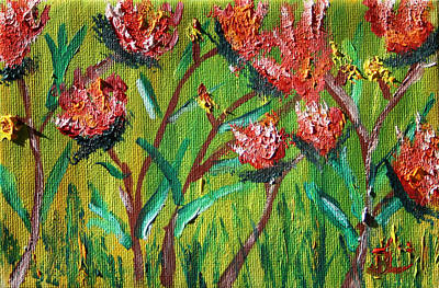 Painting - Poppies by James Bryron Love