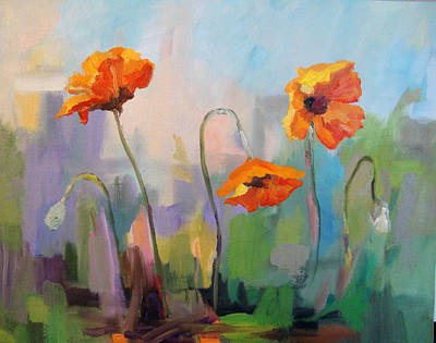 Painting - Poppies by Marty Husted