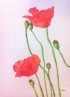 Painting - Poppies by Norma Gafford