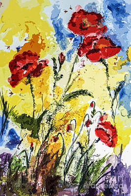 Painting - Poppies Provence Summer Floral by Ginette Callaway