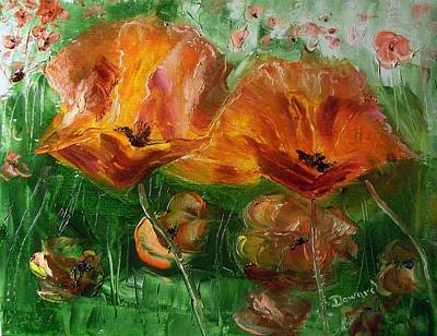 Poppies Art Print by Raymond Doward