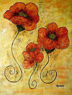 Poppy-art Art Print