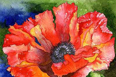Painting - Poppy by Eunice Olson