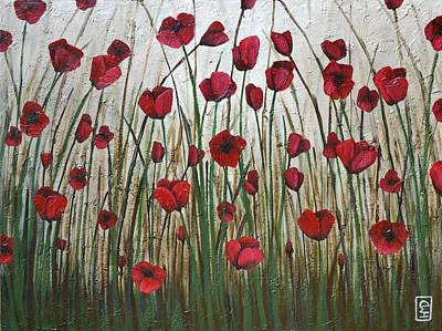 Poppy Field Art Print by Holly Donohoe