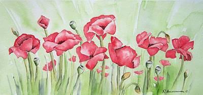 Poppy Field Art Print by Regina Ammerman