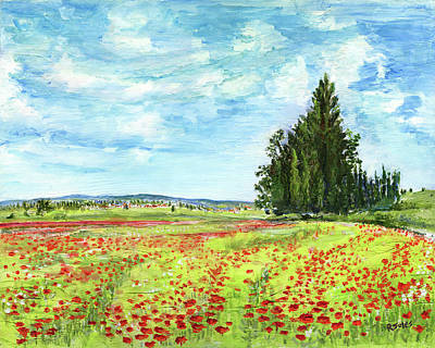 Painting - Poppy Fields by Richard Jules