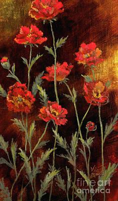 Painting - Poppy Garden by Vic  Mastis