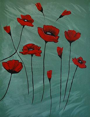 Painting - Poppy Love by Leslie Allen