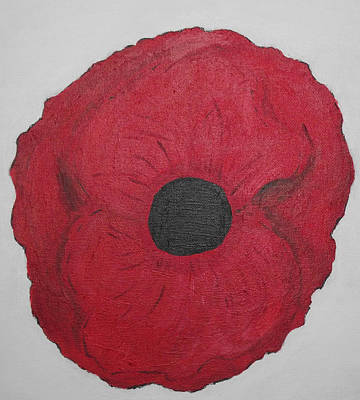 Art Print featuring the photograph Poppy Of Rememberance by Martin Blakeley