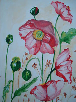 Painting - Poppy by Seema Sharma