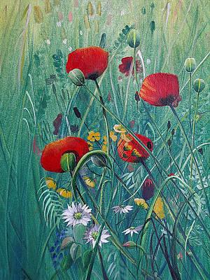 Painting - Poppydelight  by Jan Farthing