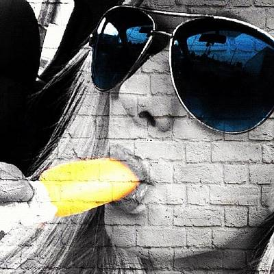 Banana Wall Art - Photograph - #popslice #mayfield #banana #sunglasses by S Smithee