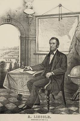 Popular Print Of President Lincoln Made Art Print by Everett