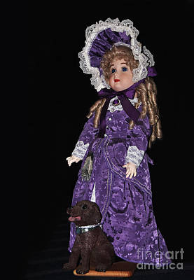 Photograph - Porcelain Doll - Full View With Puppy by Kaye Menner