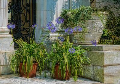 Porch Planters Art Print by Robin-Lee Vieira