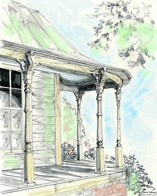 Drawing - Porch Time by Lizi Beard-Ward