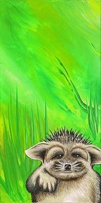 Painting - Porcupine by David Junod