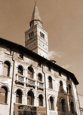Photograph - Pordenone Tower by Donna Corless