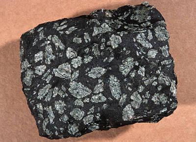 Labradorite Photograph - Porphyritic Texture In An Igneous Rock by Dirk Wiersma