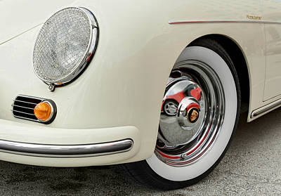 Photograph - Porsche 1600 Super 1959 Detail Of Front Wheel. Miami by Juan Carlos Ferro Duque