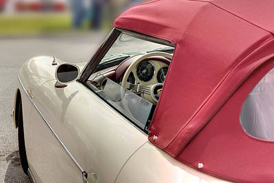 Photograph - Porsche 1600 Super 1959 Fabric Top And Door. Miami by Juan Carlos Ferro Duque