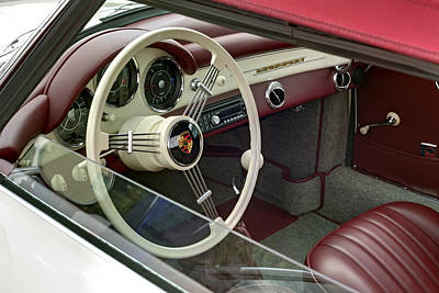 Photograph - Porsche 1600 Super 1959 Inside View. Miami by Juan Carlos Ferro Duque