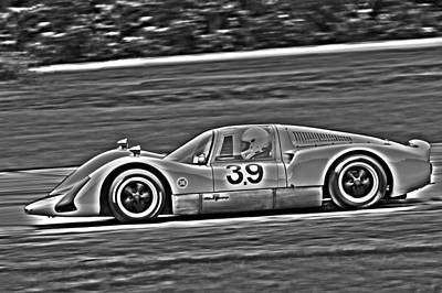 Photograph - Porsche 906e Monochrome by Alan Raasch