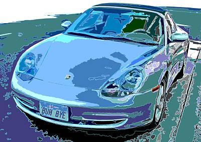 Porsche Carrera Front Angle Study Art Print by Samuel Sheats