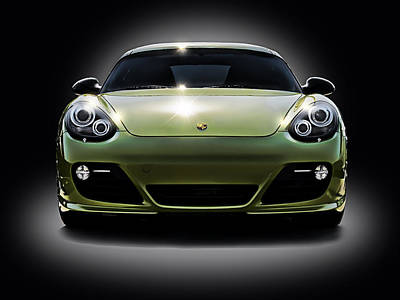 Porsche Cayman In Peridot Paint Art Print by Douglas Pittman