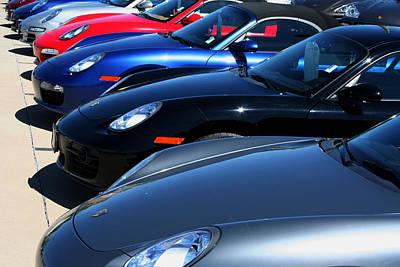Photograph - Porsche Lineup by Ric Bascobert