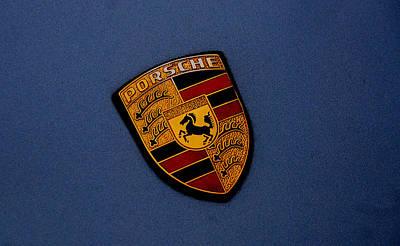 Art Print featuring the photograph Porsche Marque by John Schneider