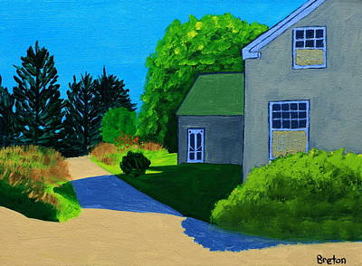 Maine Landscapes Painting - Port Clyde Morning by Laurie Breton